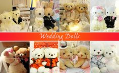 Wedding Dolls by Shuang Xi Le Wedding Doll, Wedding Stuff, Wedding Favours, Wedding Gifts, Favors, Teddy Bear, Dolls, Animals, Wedding Day Gifts