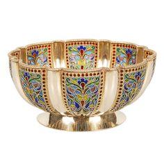 IVAN KHLEBNIKOV Plique-a-jour Enamel Bowl
