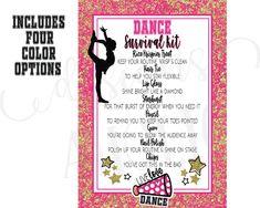 Dance Survival Kit, Cheer Survival Kit, Dance Team Gifts, Cheer Gifts, Cheerleading Gifts, Cheer Competition Gifts, Dance Teacher, The Balm, Encouragement