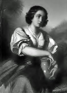 Dorothea staalgravure van Pecht