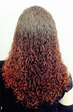 tight spiral perm - back