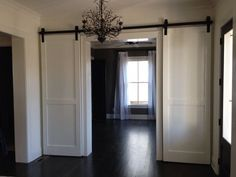 Barn Door Track System Lowe's | Custom Double Barn Doors Including Track by AntiquePineWarehouse, $ ...