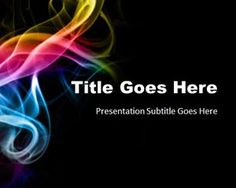 Rainbow multiple curves powerpoint template presentation abstract smoke powerpoint template is another free abstract powerpoint presentation with a nice dark template and toneelgroepblik Images