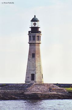 """Did you know that the Buffalo Main Lighthouse was called the """"Chinaman's Light?"""" Find out why. Read more at: http://www.us-lighthouses.com/displaypage.php?LightID=95"""