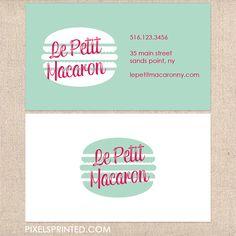 bakery business card, cute bakery care, modern vintage business card