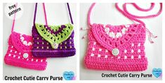 The Free Crochet Carry Purse Pattern is a bag designed especially for little ones. It is decorative and allows your little lady to carry her own stuff.
