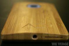 The Worlds First Bamboo Smartphone Final Design. Butcher Block Cutting Board, First World, Bamboo, Smartphone, Design