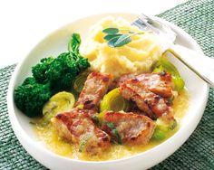 Pork and Apple Cider Braise recipe from Food in a Minute Food In A Minute, Slow Cooker Recipes, Cooking Recipes, Whole 30 Recipes, Apple Cider, Mashed Potatoes, Crockpot, Nom Nom, Pork