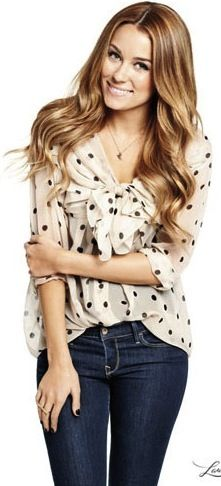 Lauren Conrad. I never watched the hills, but you have to love her for all things fashionable and glamorous.