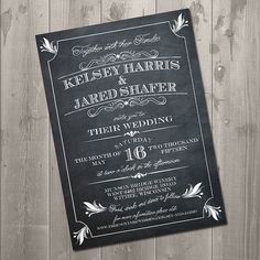 Art Deco Vintage Chalkboard Wedding by SimplySmittenDesigns