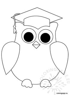 Owl Coloring Pages Preschool Graduation Cards Handmade, Graduation Crafts, Pre K Graduation, Graduation Theme, Kindergarten Graduation, Owl Coloring Pages, Free Printable Coloring Pages, Owl Crafts, Preschool Crafts