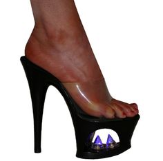 "7"" Karo's Fetish Blue Light Up Spikes w/Zoom High Heel Platform Stripper Shoes - Sizes 5-10 #3272 | FREE U.S. shipping!"