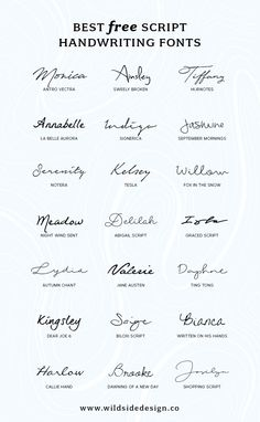 To save you time and effort, I've put together a list of the best free script handwriting fonts that are completely free. Pretty, casual and authentic...