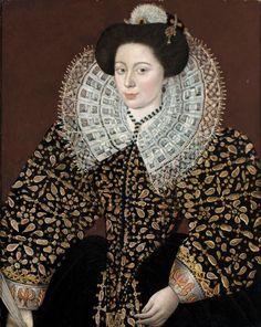 File:Attributed to Sir William Segar Portrait of a Lady.jpg
