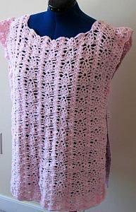 Strawberry Lace Box Poncho Crochet Pattern