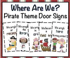 Chalk Talk: A Kindergarten Blog: Pirate Themed Behavior and Door Signs