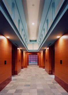 KAMIGOFUKU-MACHI MIXED-USE BUILDING  1997-1998 Fukuoka, Japan Mix Use Building, Building Design, Post Modern Architecture, Michael Graves, Fukuoka Japan, Postmodernism, Interior And Exterior, Cool Photos, Stairs