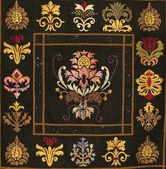 Renaissance - William Morris motifs, applique quilt