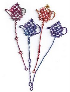 tatting... wouldn't these make nice cookbook bookmarks ~ ? ~