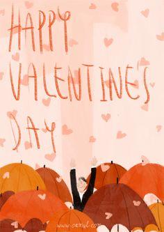 HI,I'm Oamul Lu. Valentines Illustration, Funny Illustration, Save Gif, Illustrated Wedding Invitations, Valentines Day Greetings, Drawing Lessons, Freelance Illustrator, Illustrations And Posters, Beautiful Images