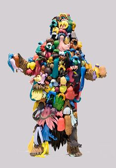 Teppei Kaneujis Plastic Hair Assemblages