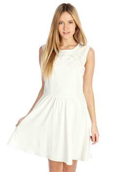 Maya Cutwork Dress   Natural   Oasis Stores