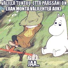 "61 tykkäystä, 3 kommenttia - 𝔼𝕝𝕝𝕒 (@ellasinikka) Instagramissa: ""Tämä fiilis liian tuttu 😂☝️#overthinkingatprolevel #vainmuumijutut"" Funny Quotes, Funny Memes, Tove Jansson, Boho Beautiful, Reaction Pictures, Some Fun, Live Life, I Laughed, Cute Pictures"