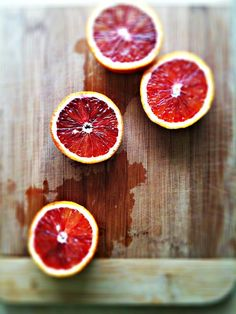 so pretty...we have fresh red ruby grapefruits from our tree right now :)