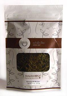 Mahamosa Flavored White Tea and Tea Filter Set: 4 oz Earl Grey Bai Mu Dan (Pai Mu Tan) White Tea, 100 Loose Leaf Tea Filters (Bundle- 2 items)(Tea ingredients: Bai mu dan white tea, blue mallow blossoms and bergamot flavor holiday flavor) Spices And Herbs, Earl Gray, Tea Blends, Loose Leaf Tea, Bergamot, Gourmet Recipes, Grey And White, Blossoms, Holiday