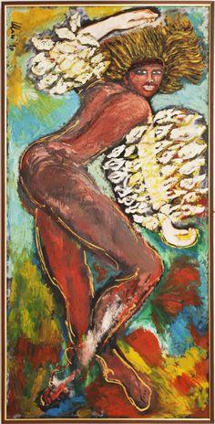 """Mari Guglielmo - """"La danza di Salomè"""" - Olio su tela - 1990 - Proprietà di Angela M."""