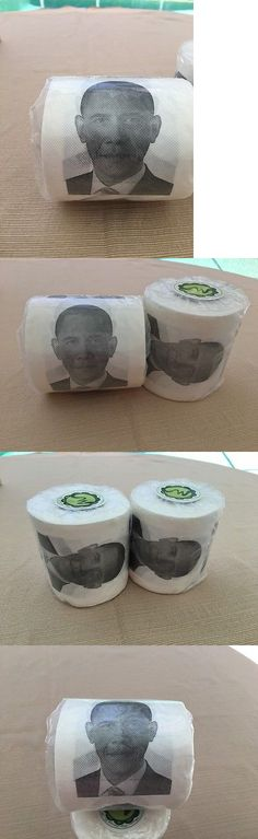 Barack Obama: President Barack Obama S Photo On Novelty Toilet Paper Roll (New In Package) -> BUY IT NOW ONLY: $6.97 on eBay!