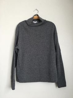 JAMES PERSE New Womens Casual Long Sleeve Funnel Neck Sweater Top Grey 0 XS $420 #JamesPerse #Sweater