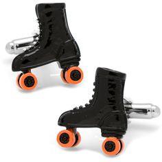Roller Skate Cuff Links, Men's, Black
