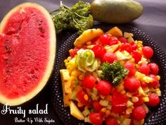 Fruity Salad With Corn Cucumber And Parsley – Batter Up With Sujata