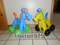 "N° 93 ""Cheval sur roulettes "",horse on wheels balloon ,caballo globo - YouTube"