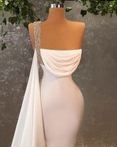 Fantasy Dress, Date Outfits, Formal Dresses, Wedding Dresses, One Shoulder Wedding Dress, Backless, Instagram, Style, Fashion