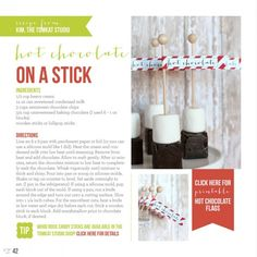 hot chocolate on a stick :: She used a silicone ice cube tray to mold the cubes. I bet you could use other shapes too, although probably not really complicated ones. Christmas Goodies, Christmas Treats, Christmas Holidays, Christmas Giveaways, Xmas, Holiday Gift Guide, Holiday Recipes, Holiday Gifts, Planning Menu