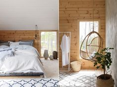 The Honka Ink is a youthful vision of an ecological and healthy log home nested in nature. The builder couple's dream was to have their own home surrounded by Finnish nature. This dream came true on a wooded lot with a direct view over Lake Saimaa from the upstairs bedroom.
