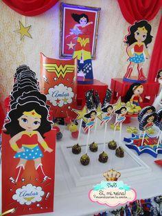 Si Mi Reina 's Birthday / Frozen Fever & Wonder Woman - Photo Gallery at Catch My Party Wonder Woman Birthday, Wonder Woman Party, Birthday Woman, Girl Superhero Party, 6th Birthday Parties, 4th Birthday, Little Girl Birthday, Party Ideas, Superman