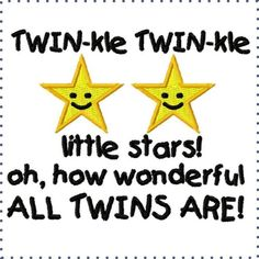 Twin-kle twin-kle little star, oh how wonderful our twins are. Twin Baby Girls, Boy Girl Twins, Twin Mom, Twin Sisters, Twin Babies, My Girl, Love Twins, How To Have Twins, Baby Love