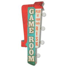 Retro Game Room LED Metal Wall Art