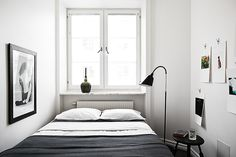 17 tricks to get your small bedroom look bigger - Comfortable home -   An unadorned bedroom provides space.