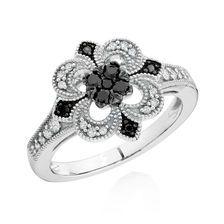 0.33 CARAT TW WHITE & ENHANCED BLACK DIAMOND RING
