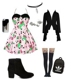"""Picture day at school"" by baconkat on Polyvore featuring Hell Bunny, Steve Madden, Dorothy Perkins and adidas Originals"