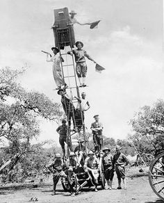 Army Signal Corps at Camp Travis in San Antonio, An incredible photo. Can you imagine signaling this way? As the son of a longtime Signal Corps officer, I can say with certainty that they've come a long, LONG way since this was taken! Only In Texas, Rio Grande Valley, Grand Prairie, South Texas, Texas History, Military Personnel, World War One, Military History, Us Army