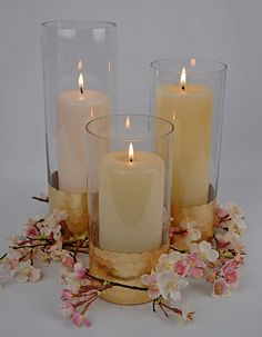 "Gold Honeycomb Cylinder Vase 8"" x 4"" found on save-on-crafts.com"