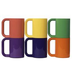 Heller #Mug #Set Of 6 #multi #colored #coffee #mug set