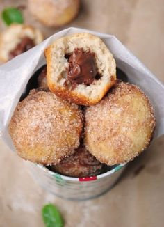 Nutella-Filled Baked Donut Muffins (Baked, not fried!)