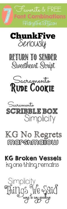 Favorite Free Font Combinations