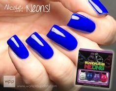 Neon Blue- Scandalous Neon's - Nicole By OPI